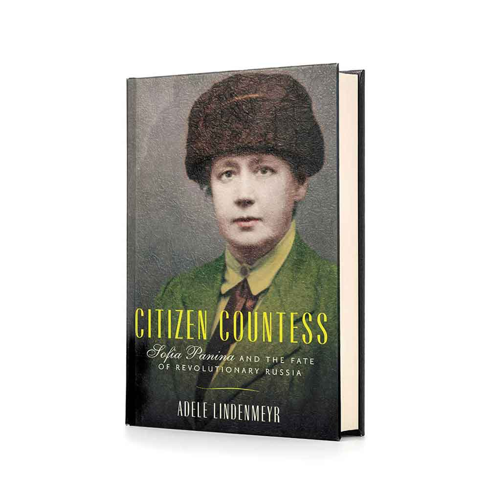Book cover of Citizen Countess, showing Sofia Panina in a Russian fur hat