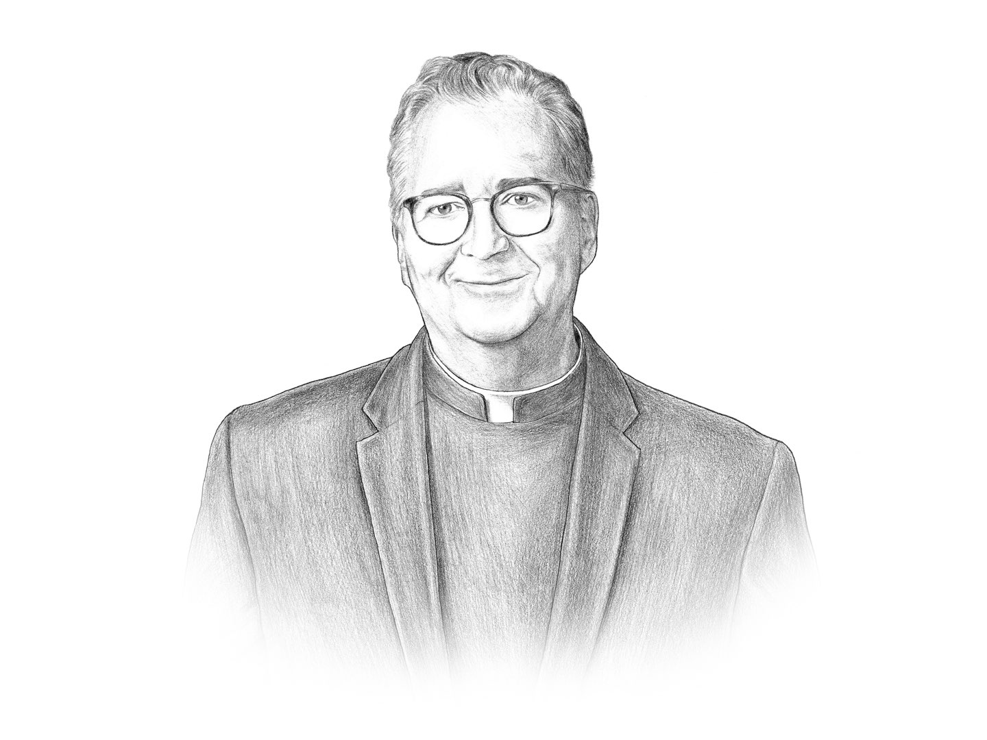 Illustration of Villanova University President the Reverend Peter M. Donohue.