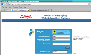 Web Subscriber Options Login