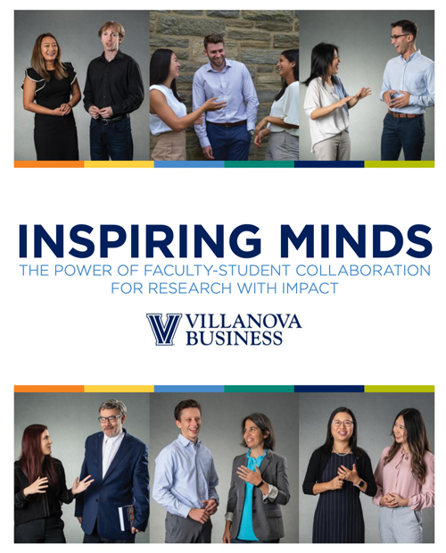 Front cover of 2018 Inspiring Minds, a VSB publication profiling faculty who are advancing research with impact.