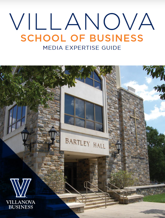 Front cover of the Villanova School of Business Faculty Expertise Guide