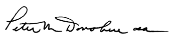 Signature of the President