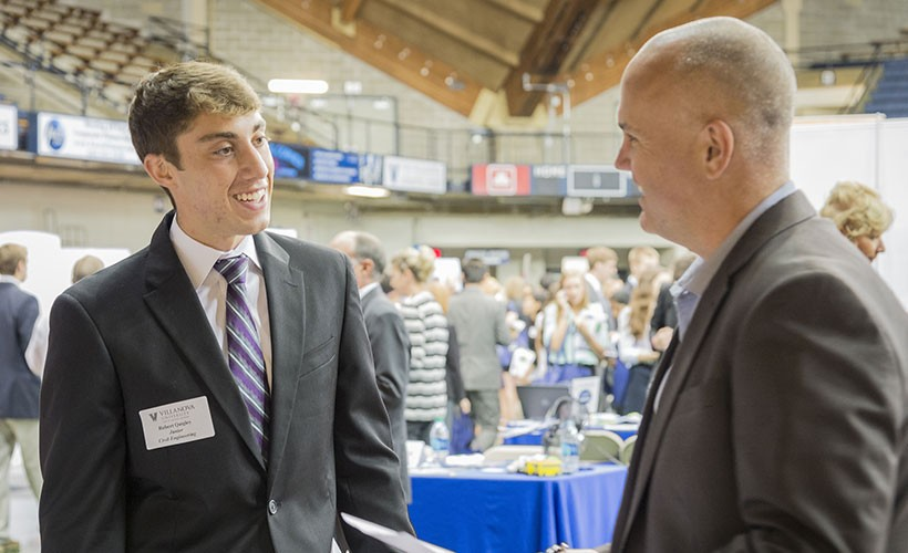 Villanova Engineering undergraduates are prepared professionally through the Career Compass program.