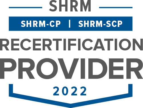 SHRM (SHRM-CP and SHRM-SCP) Recertification Provider 2021 logo