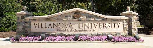 Villanova University campus sign