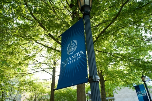 Villanova light pole banner