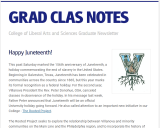 thumbnail of graduate studies newsletter
