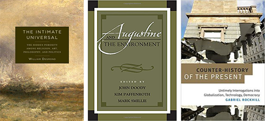 Covers of three recent books by Villanova Philosophy Professors