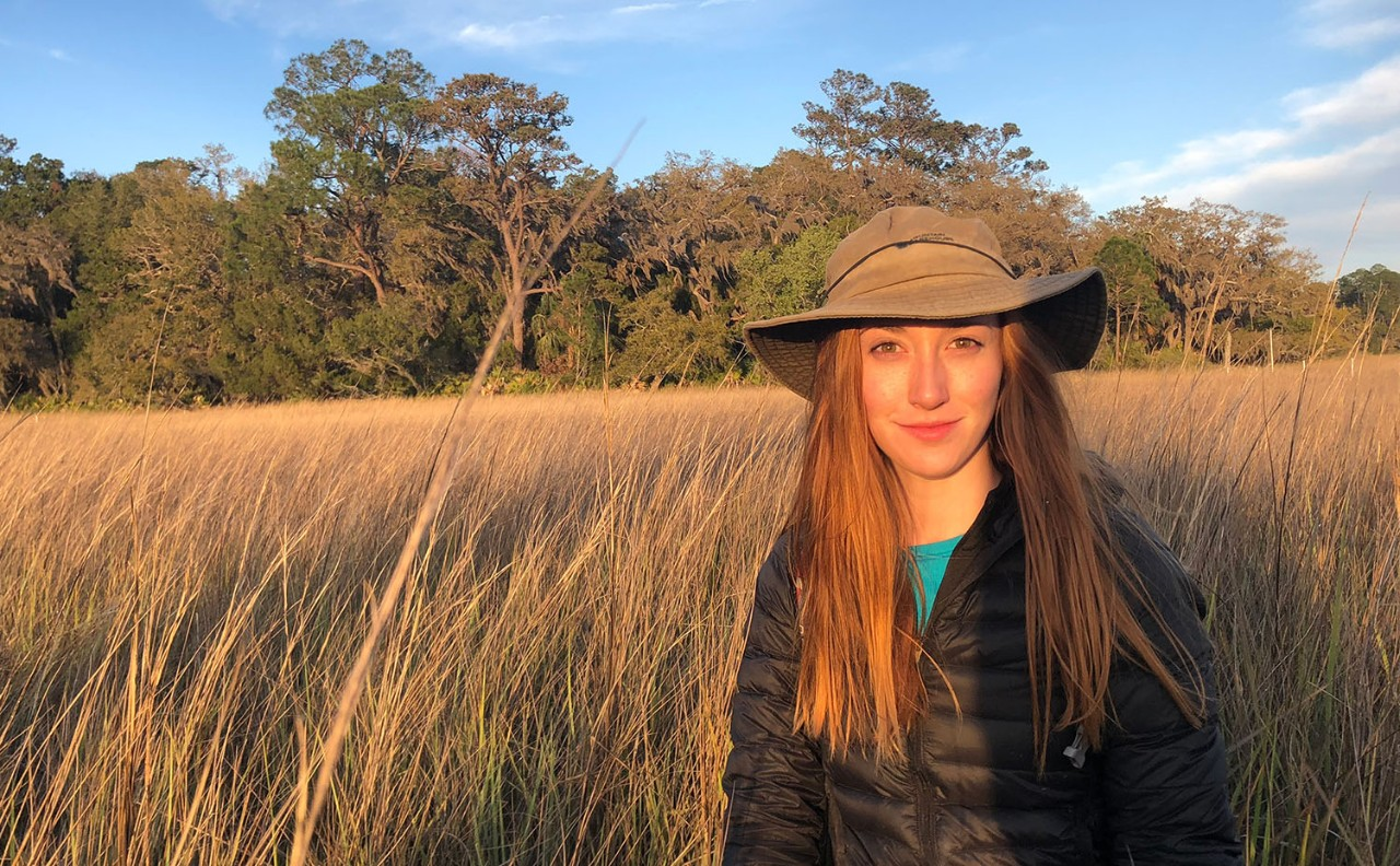 Emily Geoghegan '19 MS conducts field research