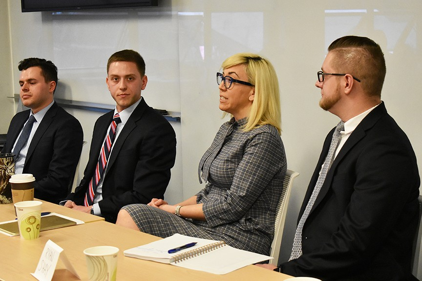 Four alumni returned to campus to discuss careers in government and politics