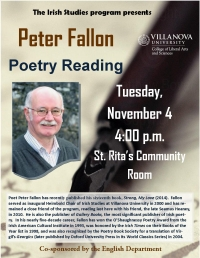 Peter Fallon, Poetry Reading