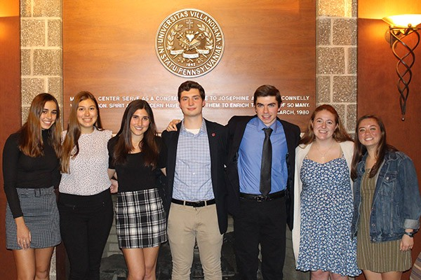 Pictured are the seven student winners of the ACS writing awards.