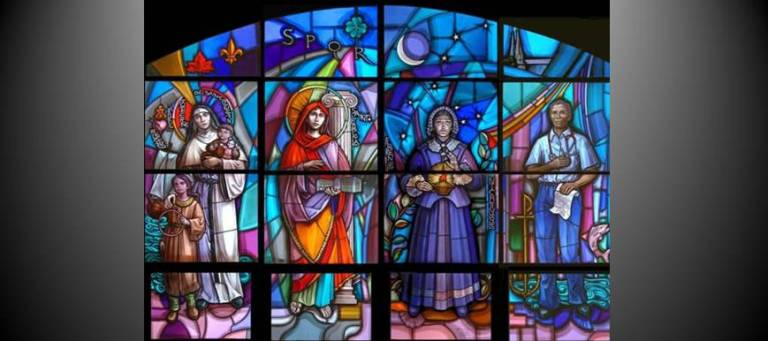 Window for Villanova University's School of Nursing by Father Richard Cannuli