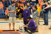 Villanova Engineering students assist during the regional competition for BEST Robotics