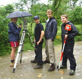 Students surveying a potential site