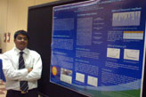 At the PA-AWWA's annual conference in May, doctoral student Gangadhar Andaluri presented his research on the use of ultrasound as a treatment process for destroying chemicals in wastewater.