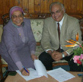 Dr. Moeness Amin, Director of the CAC (right) with Dr. Hadia Elhenawy, Dean of Engineering at Ain Shams University
