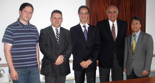 Christian Debes, Dr. Cornel Ioana, Dr. Abdelhak Zoubir, Dr. Moeness Amin, and Dr. Salim Bouzerdoum (pictured left to right)
