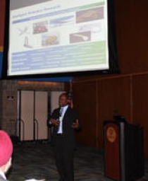 Dr. Kingsley Fregene from Lockheed Martin was one of four speakers to interact with students.