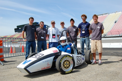 Villanova's Formula SAE team at Michigan International Speedway. Photos are courtesy of Jason Woo ME '11.