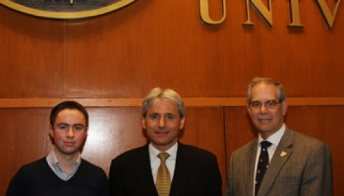 Ryan W. Cunningham CBA '08, Dr. Peter E. Raad, and Dr. Gary A. Gabriele, Drosdick Endowed Dean of the College of Engineering