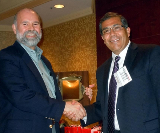 On behalf of an international selection committee, Dr. Bruce Guenin of Oracle Corporation presented the Harvey Rosten Award for Excellence to Dr. Alfonso Ortega, the James R. Birle Professor of Energy Technology and Associate Dean for Graduate Studies and Research, at SEMI-THERM in March.