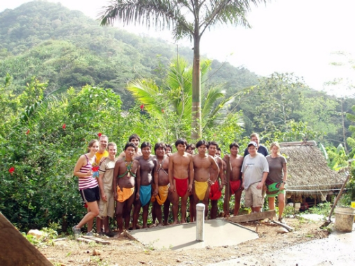 Villanova Engineers in Embera Puru, Panama.