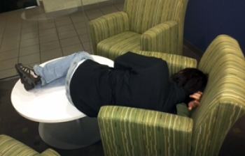 6:00 a.m. Hackathon 2013: Sleep wins out.