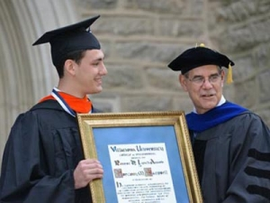 Gregory M. Campbell, ME, was presented with the College's top undergraduate honor, the Robert D. Lynch award.
