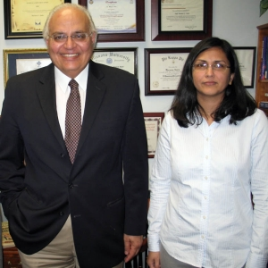 Moeness Amin, PhD, director of the Center for Advanced Communications, with Fauzia Ahmad, PhD, research professor and director of the Radar Imaging Lab