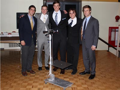2nd place:  Assistive Kitchen Device for the Handicapped Adam Nash, Kiernan Hess, Kyle Pucci, Ryan French, Daniel Connolly