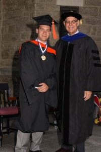 Russell P. Rioux '15 MSME won the Outstanding Graduate Student Medallion