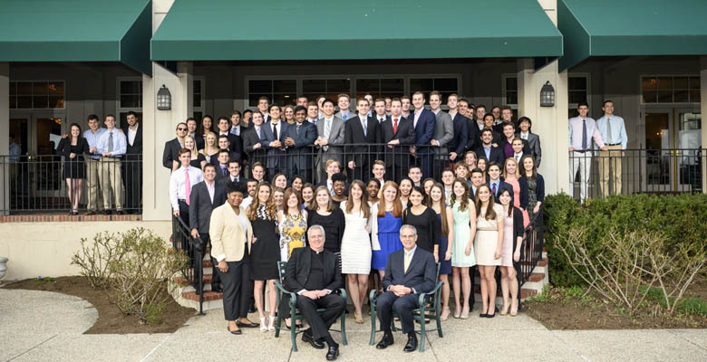 Ninety-three graduating seniors were recognized at the 2015 Dean's Award Dinner.