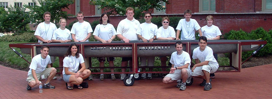 Villanova's 2004 Concrete Canoe Team.