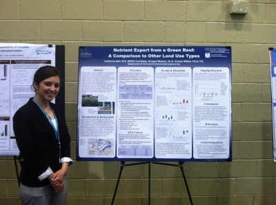Graduate student Catherine Barr, Water Resources and Environmental Engineering, took first place for her research poster at PennTec 2015.