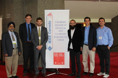 Representing Villanova at IHTC 2015 were Professor Pritpal Singh, PhD, chair, Department of Electrical and Computer Engineering; Michael Benson '15 ME; Mechanical Engineering graduate student Alexander Poultney '14 ME; Nathan Charles '15 MSSE; Mauro Sanchirico '15 EE and Electrical Engineering doctoral candidate Mahmoud Kabalan.