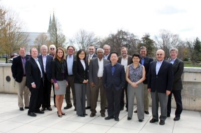 Engineering deans of Catholic colleges and universities held their annual meeting at Villanova in April.