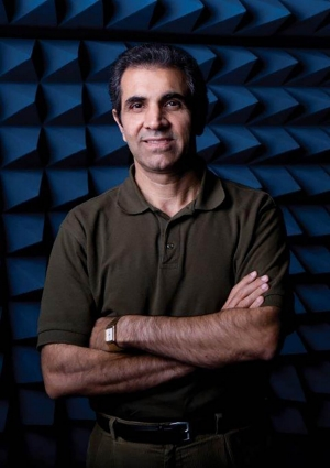 Electrical and Computer Engineering Professor Ahmad Hoorfar, PhD, director of the Antenna Research Laboratory
