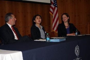 Eric D. Frary, PE, vice president and office executive of Michael Baker International, Ying Sun, PhD, associate professor, college of engineering, Drexel University and Laurie Matkowski, transportation operations manager of the Delaware Valley Regional Planning Commission (DVRPC).