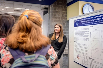 Personal interest drove Samantha Kalup's '16 ME research on human lumbar intervertebral disc tissues.