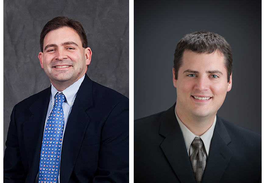 Associate Professor Shawn Gross, PhD, and Assistant Professor Eric Musselman, PhD