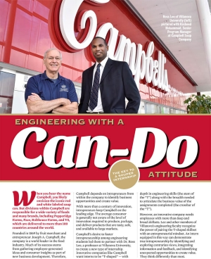 Dr. Ross Lee's work with Campbell's leads to new type of internship for students with an entrepreneurial mindset.