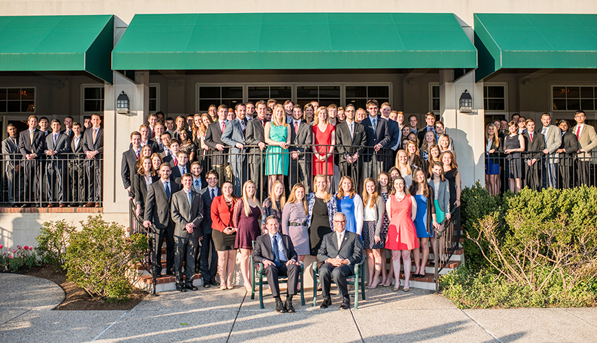 A record-high 99 engineering seniors were recognized for academic achievement.