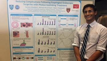Zachary Ellenhorn '18 ChE's research demonstrates improvements in endoscopic surgery for esophageal cancer.