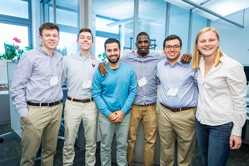 "Team C3 took first place with ""Uni-Park"": Matthew Bakey, Matthew Massina, Sagar Bhatia, Equise Smith, Christopher LeClerc and Rebecca Giedraitis."
