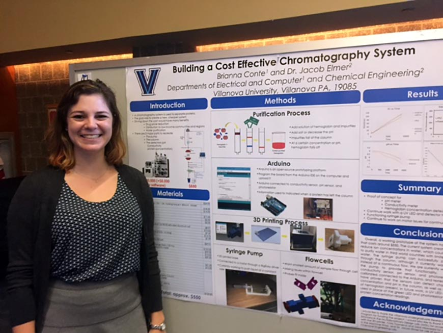 Brianne Conte '18 EE took second place for her undergraduate engineering poster.