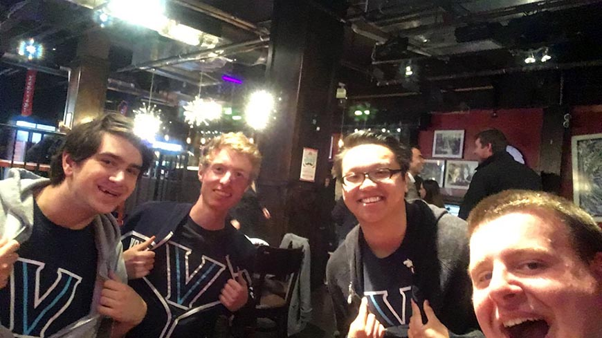 Villanova Engineering's Traffic Bowl team:  Nathaniel Gallishaw,  David Harvey, Andy Ye and Christopher Medora