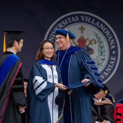 Xianhua Li, PhD, won the Outstanding Doctoral Student Award with Andrew Golato, PhD.