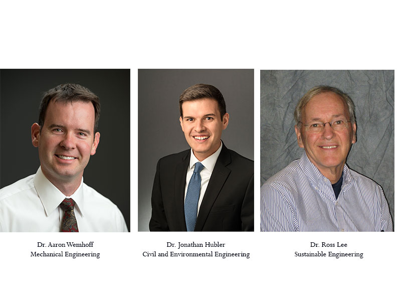 Dr. Aaron Wemhoff, Dr. Jonathan Hubler, Dr. Ross Lee