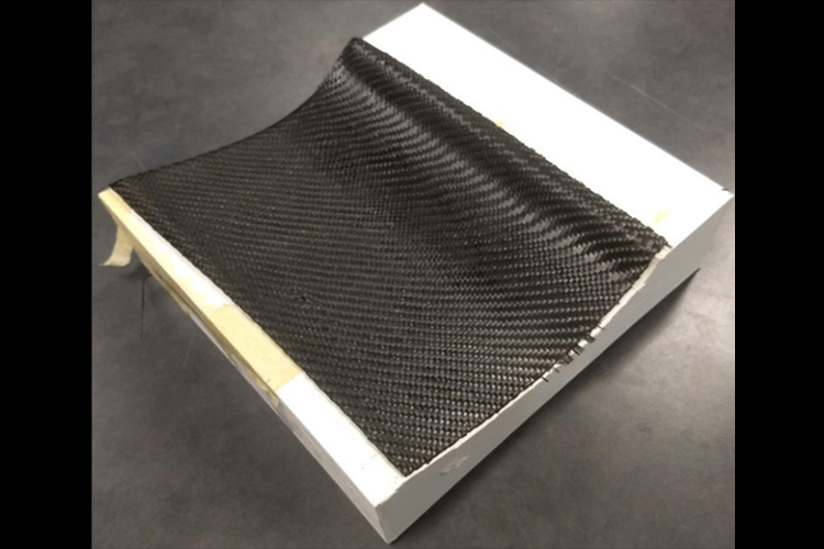 3D printed small scale wing to practice carbon fiber layup techniques